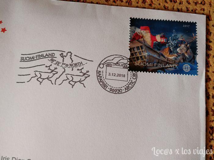 Carta de Papá Noel desde Laponia