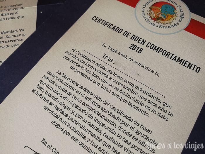 Certificado de Buen Comportamiento de la Carta de Papá Noel desde Laponia