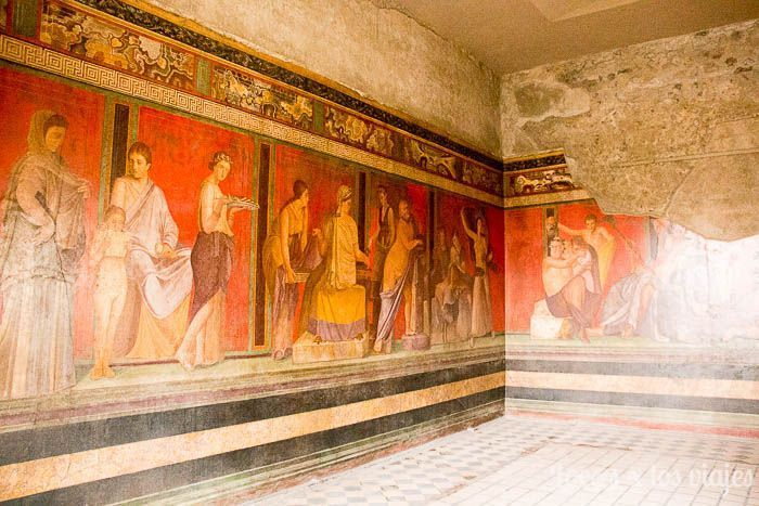 Villa de los Misterios en Pompeya