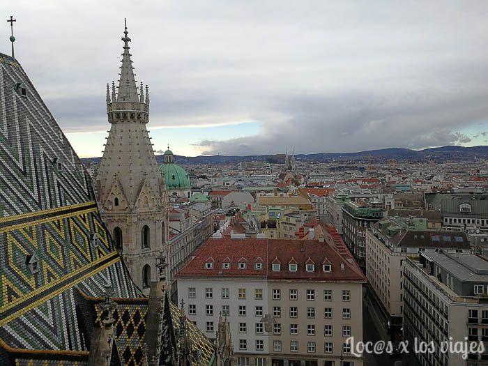 Viena; Vistas desde la Torre Norte de la Catedral de San Esteban