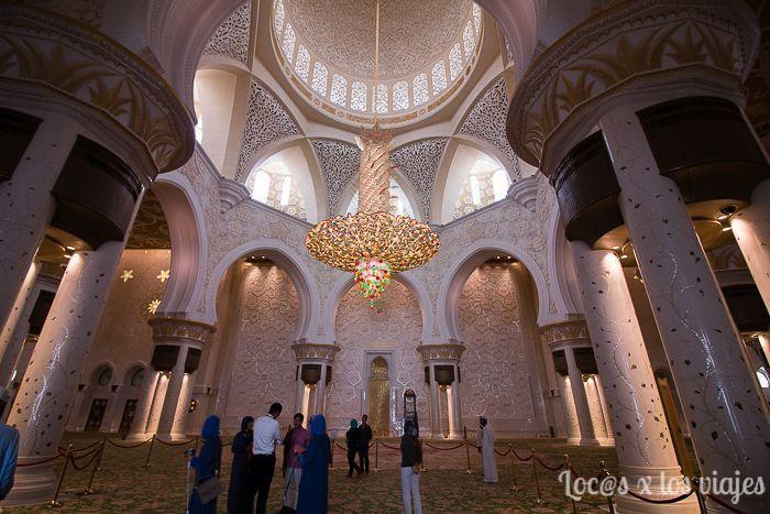 Interior Mezquita Sheikh Zayed
