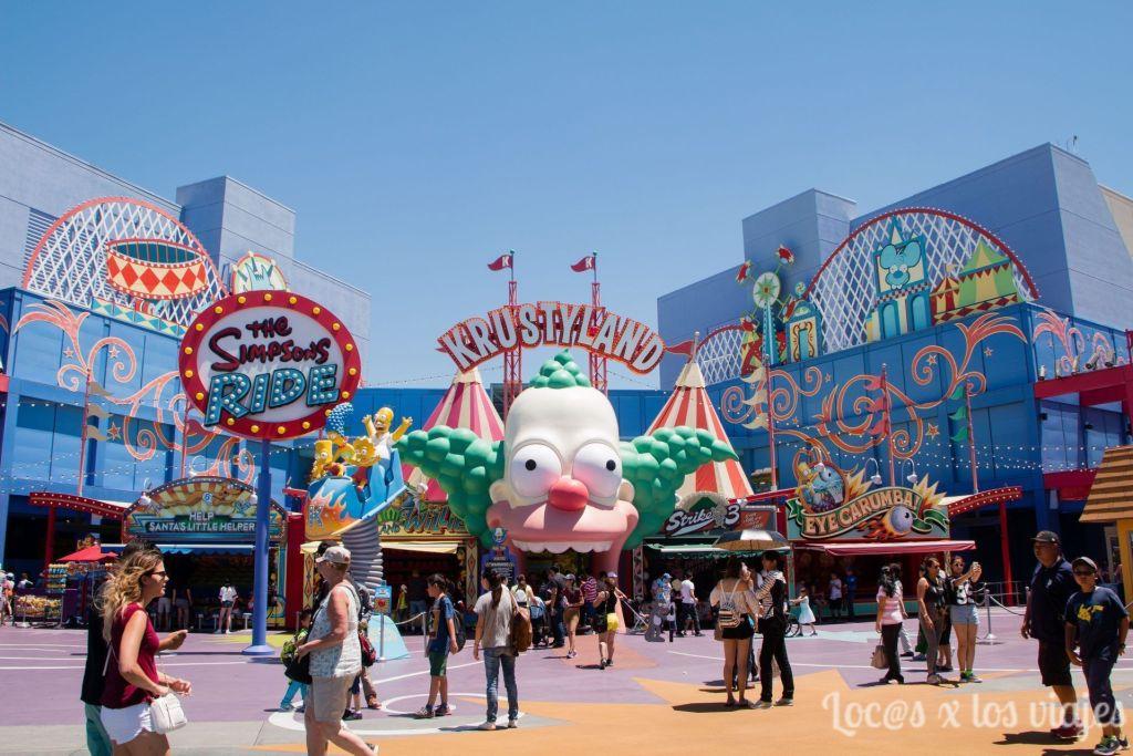 Zona de los Simpsons en Universal Studios Hollywood