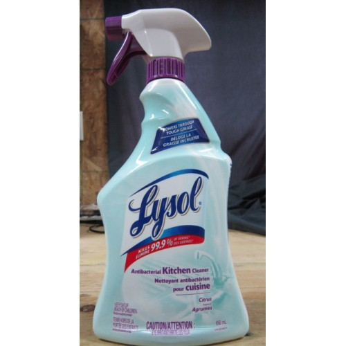 lysol antibacterial kitchen cleaner unfinished oak cabinets sprayer all purpose brand 1 x