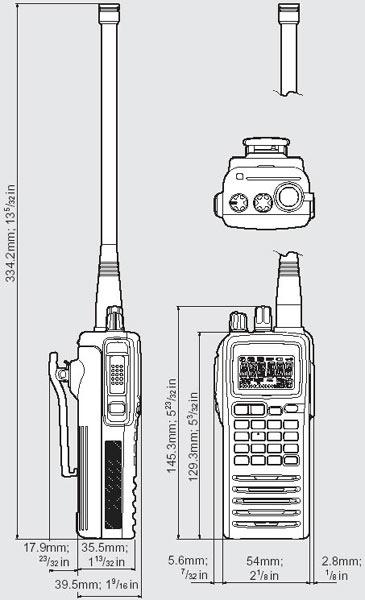 ICOM IC A6 . Equipos para Banda Aérea SIN VOR