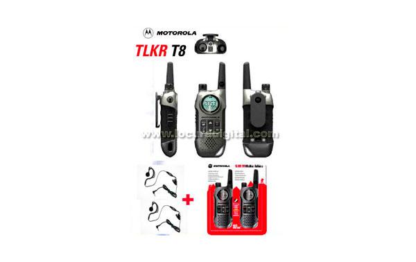 MOTOROLA TLKR KIT1 T8, new model. USE WALKIE FREE GIFT OF