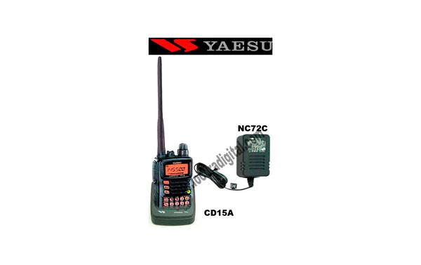 YAESU VX-6E KIT A. Walkie Bibanda VHF / UHF + CD15 desktop