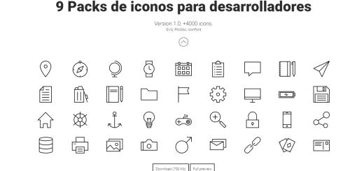 9 paquetes de iconos gratuito para desarrolladores