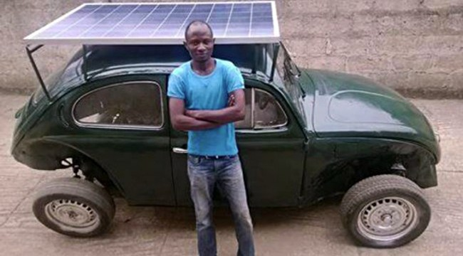 Nigerian Man Makes Solar Power Car