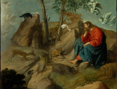 Moretto Da Brescia Christ in the Wilderness