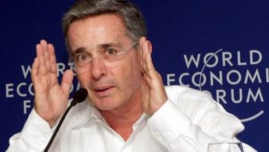 Álvaro Uribe, voormalig president van Colombia (2002-2010), trouwe bondgenoot van de VS en graag geziene gastspreker op het World Economic Forum