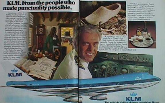 Gezagvoerder Van Zanten prijst de stiptheid, het comfort en de veiligheid van KLM aan