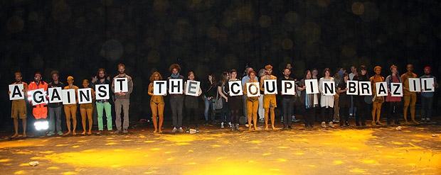 Protest van Braziliaanse kunstenaars in Düsseldorf