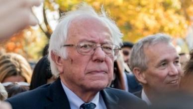 Senator Bernie Sanders tijdens de People's Rally in Washington, D.C van zijn Broad Progressieve Coalition