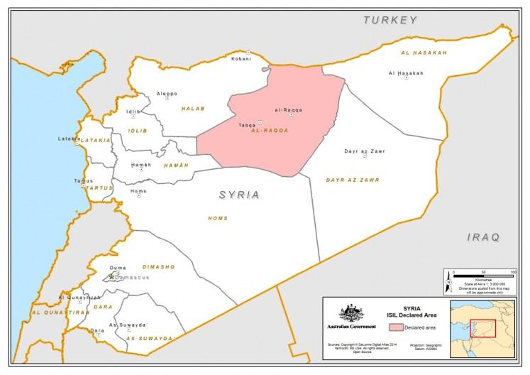Kaart van Syrië