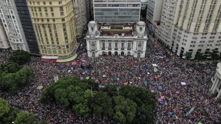 Vrouwenbetoging van 29 september in Rio de Janeiro