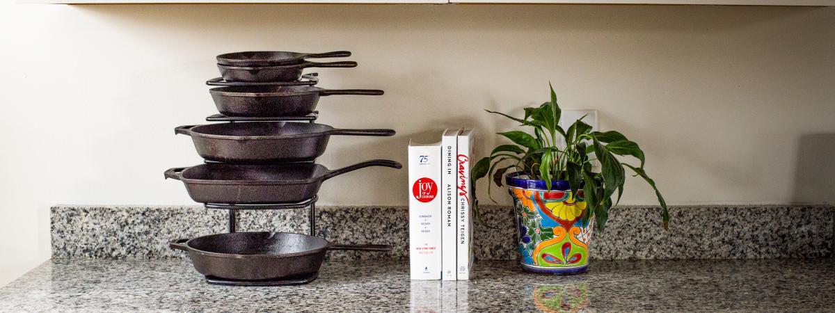 their cast iron cookware