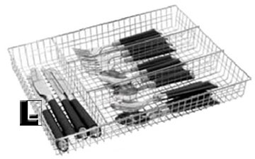 4 Compartment Chrome Mesh Cutlery Tray (10