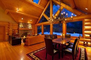 Luxury Log Chalet with Private Hot Tub :: Whistler Creekside Photographs