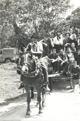 A San Gregorio en carro. Años 60