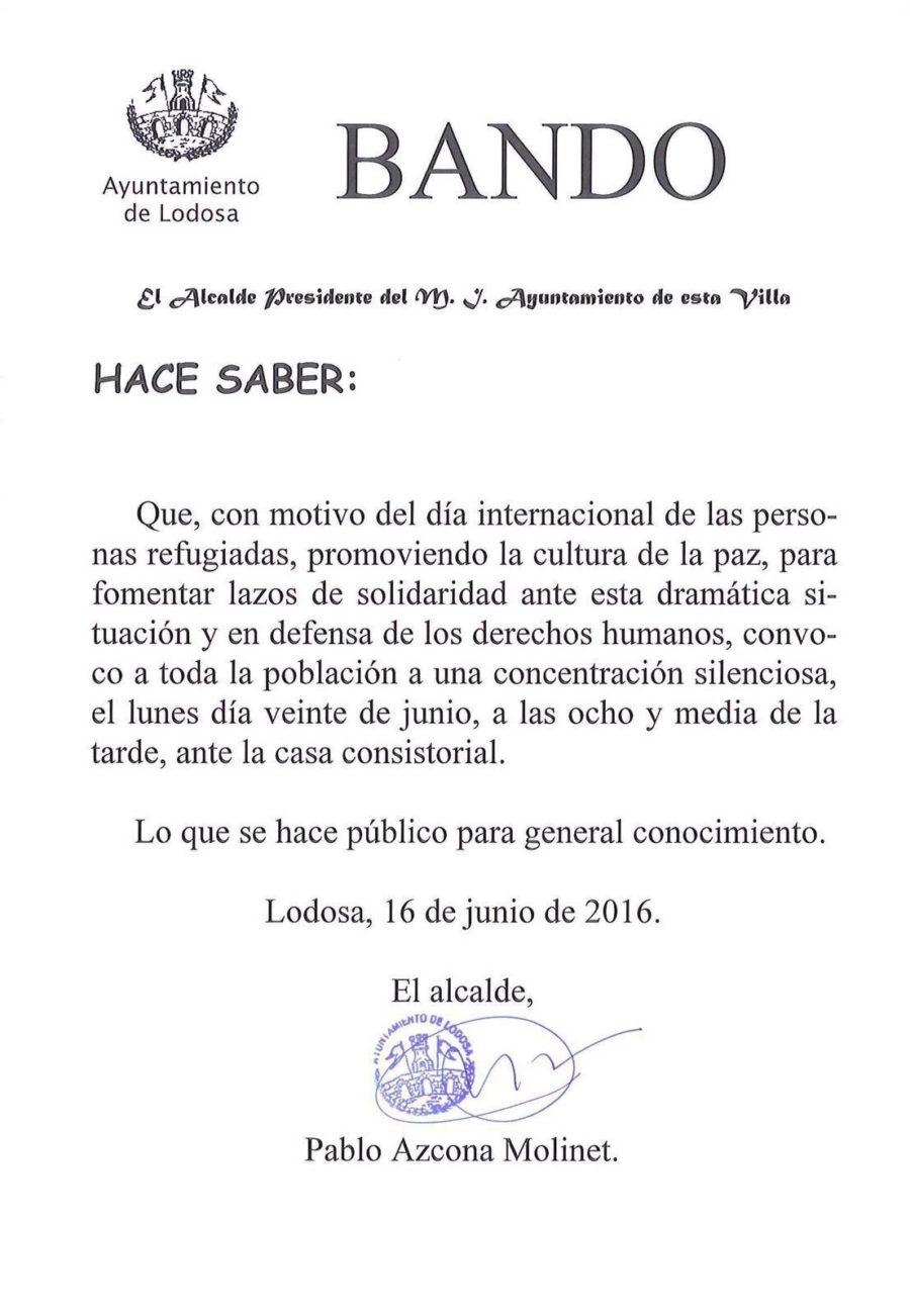 Bando de Alcaldía 16/06/2016