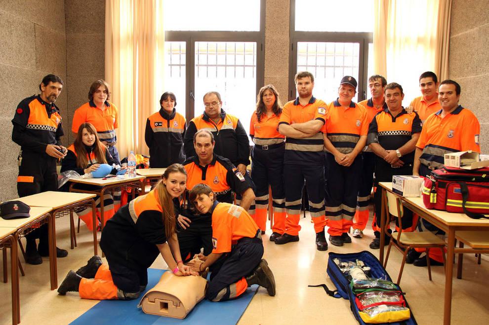 Grupo de voluntarios de Proteccion Civil de Milagro - Foto: Ahora Zona Media