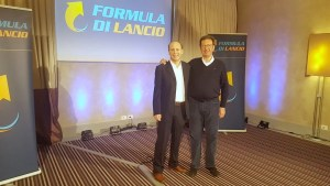 Lodovico Marenco e Marco Scabia nel palco di Formula di Lancio - Edizione 2018