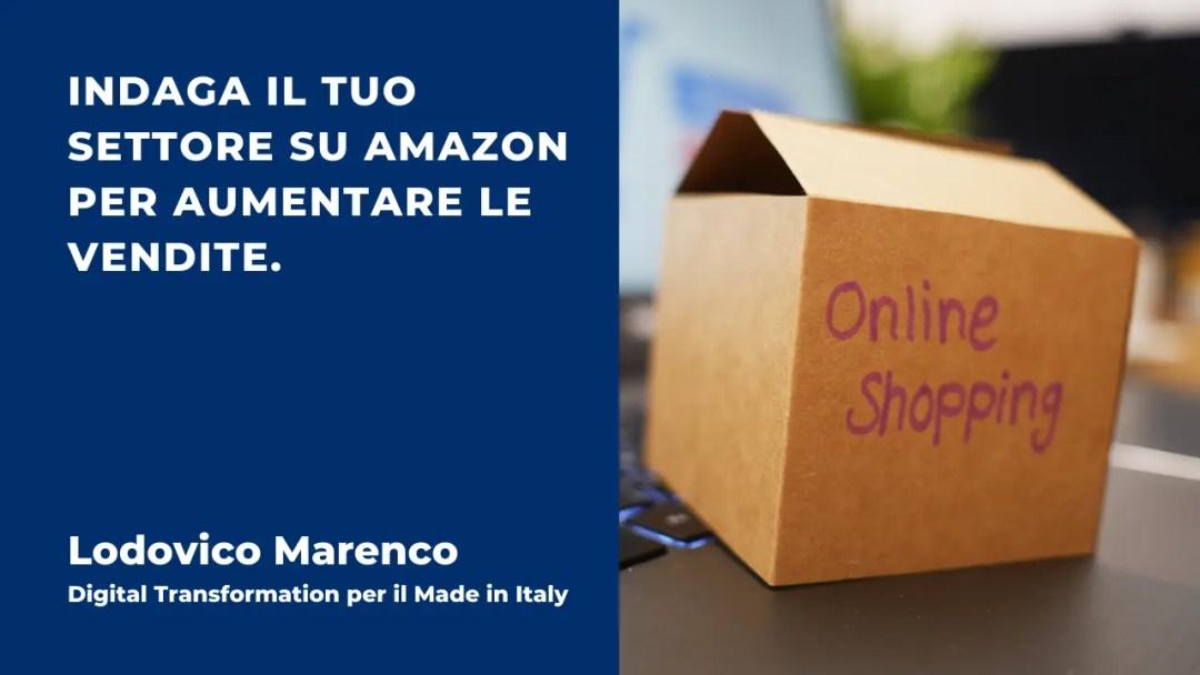 Indaga il tuo settore su Amazon per aumentare le vendite.