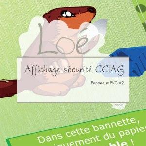Affichage sécurité CCIAG : 12 panneaux PVC A2