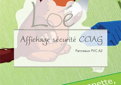 Panneaux affichage sécurité CCIAG