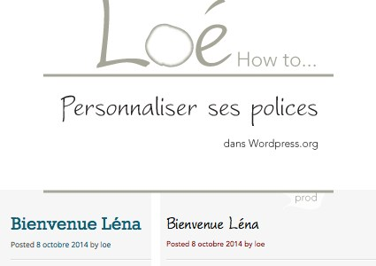 How to… personnaliser ses polices pour wordpress
