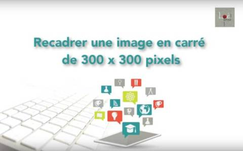 Recadrer une image en carré de 300 pixel