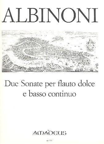 Albinoni, Sonaten, Noten, Altblockflöte und Bc, BP526