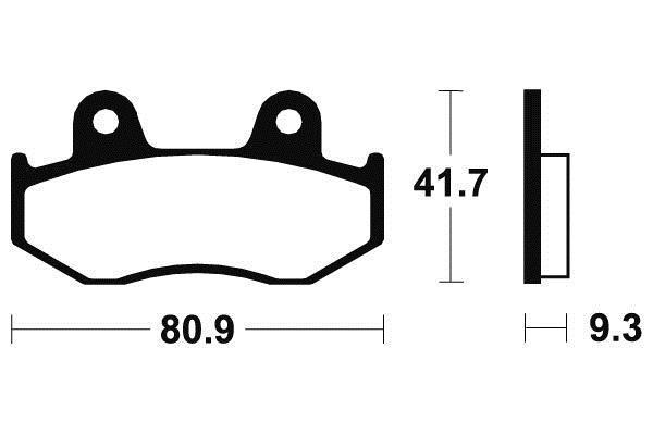 Tecnium Sinter Bremsbeläge MO209 TÜV Zertifizierung für