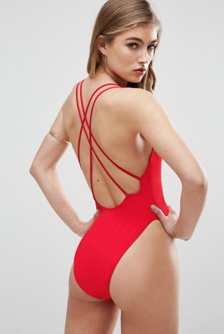 maillot-une-piece-rouge-asos