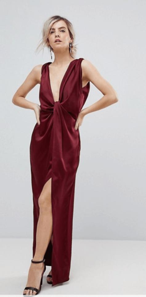 robe-longue-satin-asos-petite