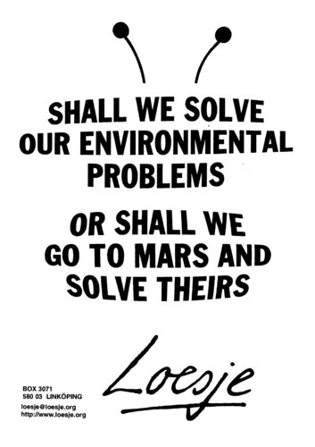 586. SHALL WE SOLVE OUR ENVIRONMENTAL PROBLEMS OR SHALL WE