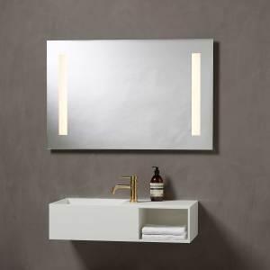 mirror, spejl, spejl med lys, lys, light, mirror light, Loevschall, makeup spejl, makeup spejl med lys i, badeværelsesspejl, bathroom, bathroom mirror,