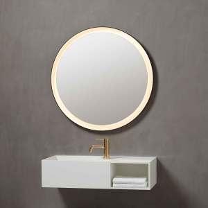 Mirror, spejl, spiegel, light, lys, led, rundt, rundt spejl, round, Pisa