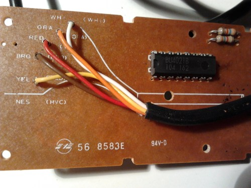 small resolution of the untouched circuit board of a nes controller full size