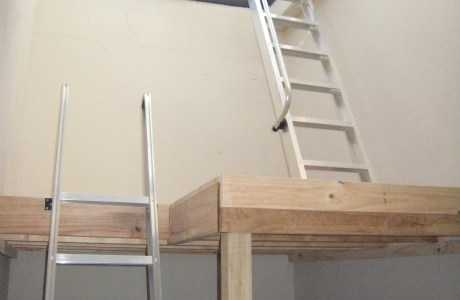 Mezzanine Floor with Two Loft Ladders