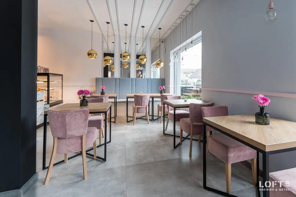 Realizacja Loft 87 kawiarnia Besova stoły