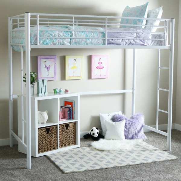 White Loft Beds Girls With Desk - Bed Deals