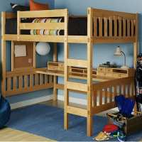 Modern, Full Size, Metal Loft Beds For Adults With Desk