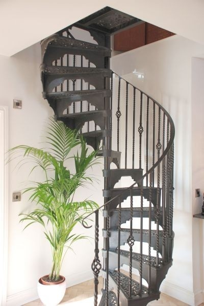 Feature Loft Centre Victorian Cast Iron Spiral Staircase | Spiral Staircase Into Loft | Attic Stairs | Ladder | Bedroom | Space Saver | Staircase Ideas