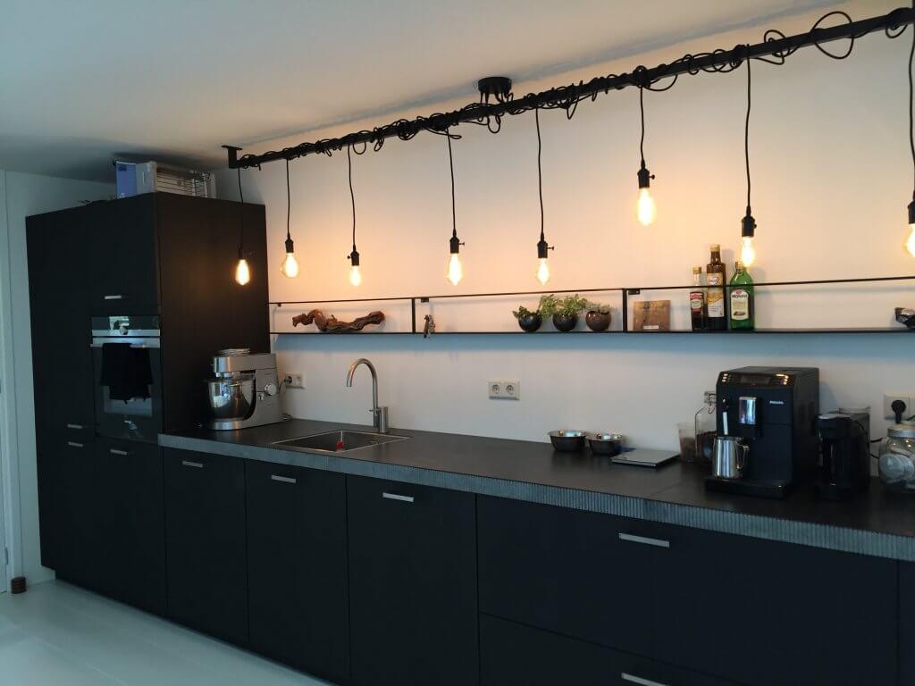 Industrile keuken lamp met Edison lampen Lightbar