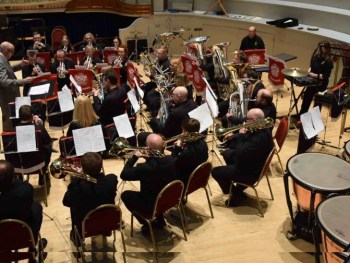 Lofthouse Brass Band on Stage