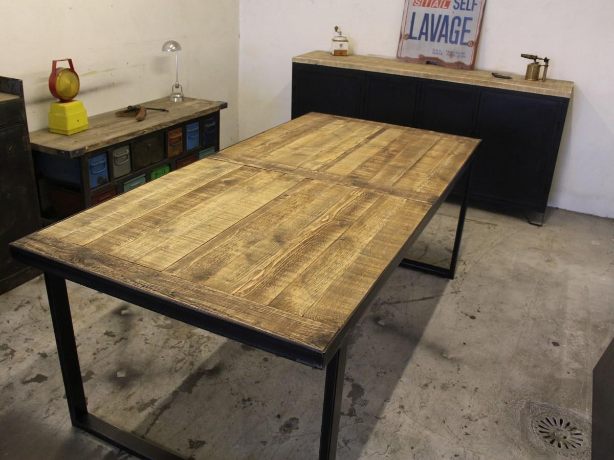 table repas archives loft industeel. Black Bedroom Furniture Sets. Home Design Ideas