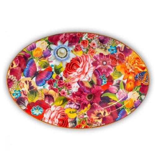 MELLI MELLO SERVING PLATE LARGE FLOWERS 30.5 X 25 CM