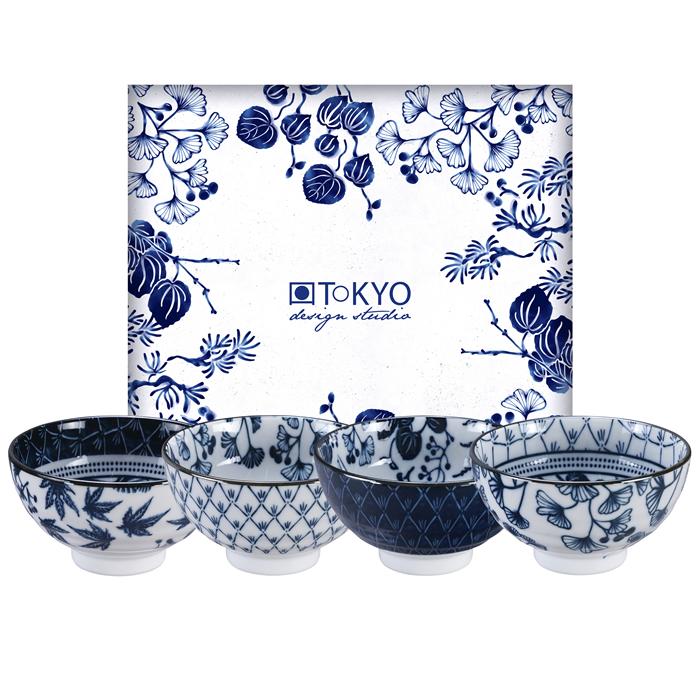 TOKYO DESIGN – Flora Japonica Set 4 Ciotole Ø 12 Cm