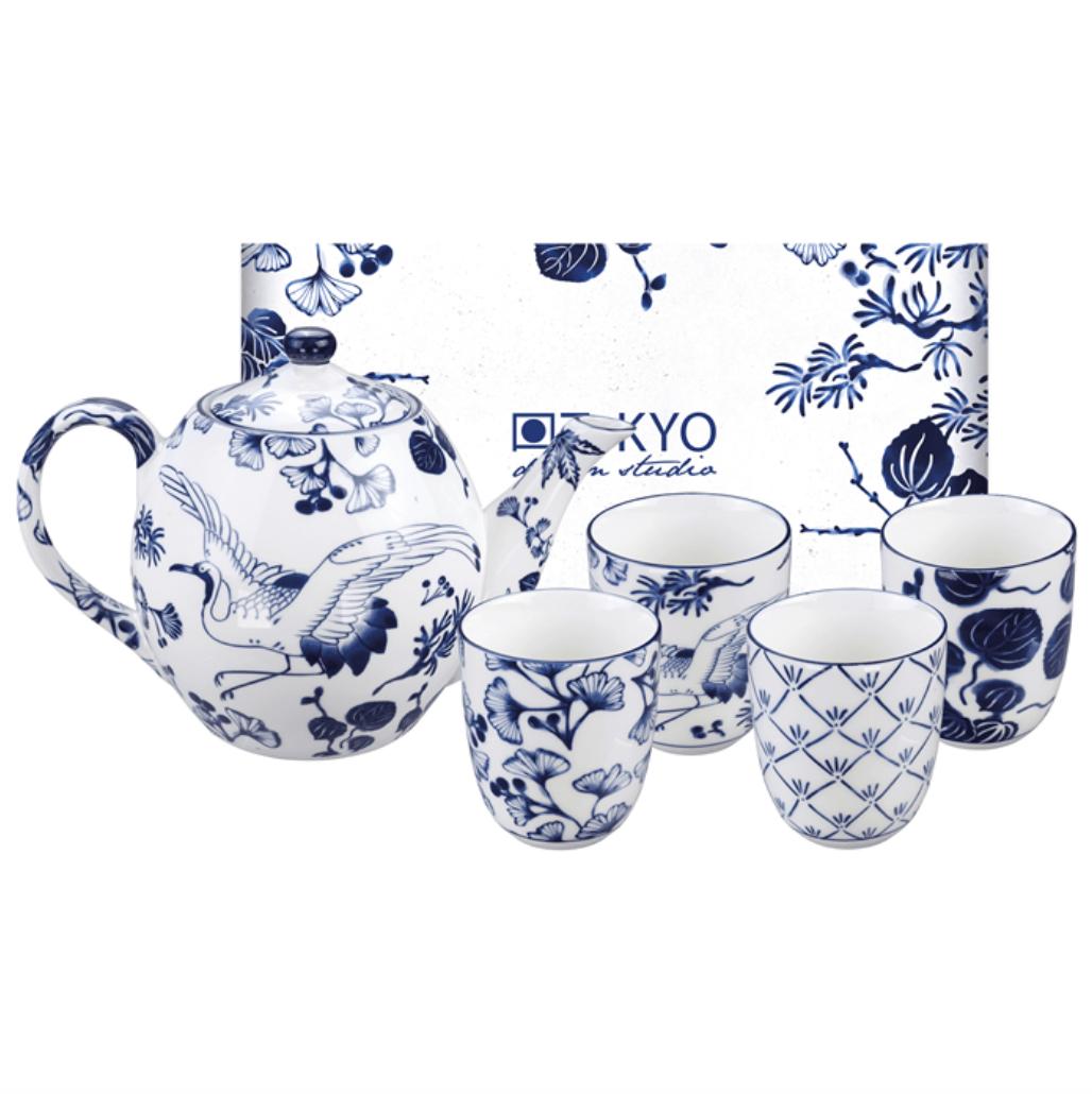 TOKYO DESIGN – Flora Japonica Servizio Da Tè In Porcellana 5 Pezzi